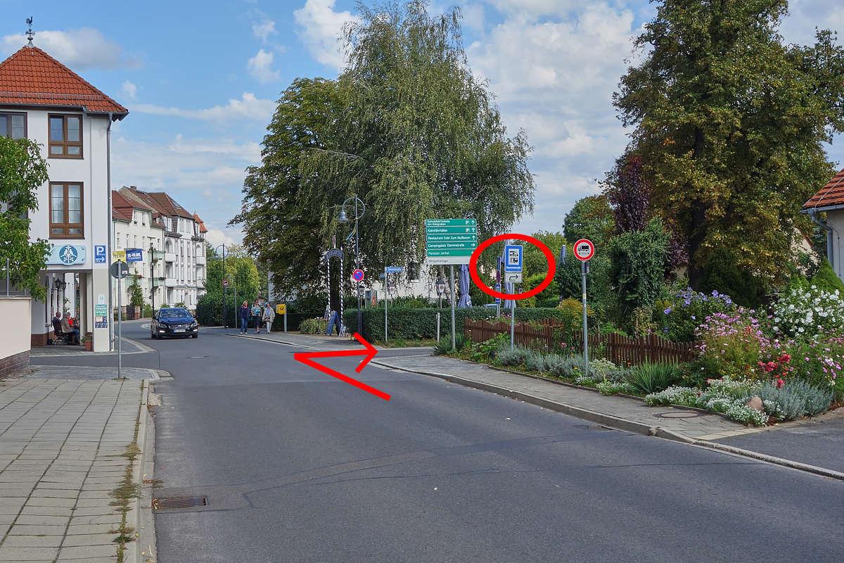 Anfahrt aus Richtung Bahnhofstraße