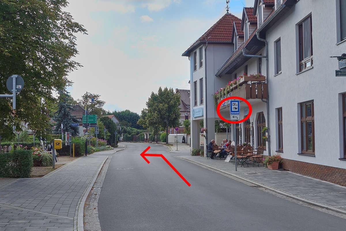 Anfahrt aus Richtung Altstadt/Hafen